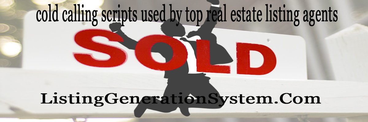 sample cold calling scripts for real estate agents